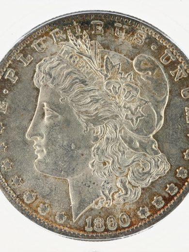 1890-S Morgan Dollar ICG MS63 S$1 obv zm