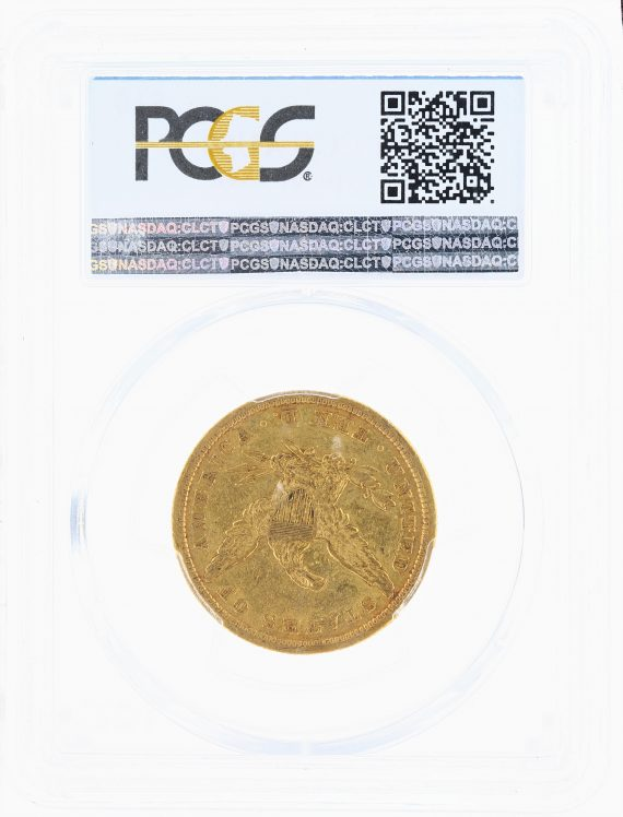 1839 Type of 1840 Gold Eagle PCGS AU50 $10 Liberty Head rev