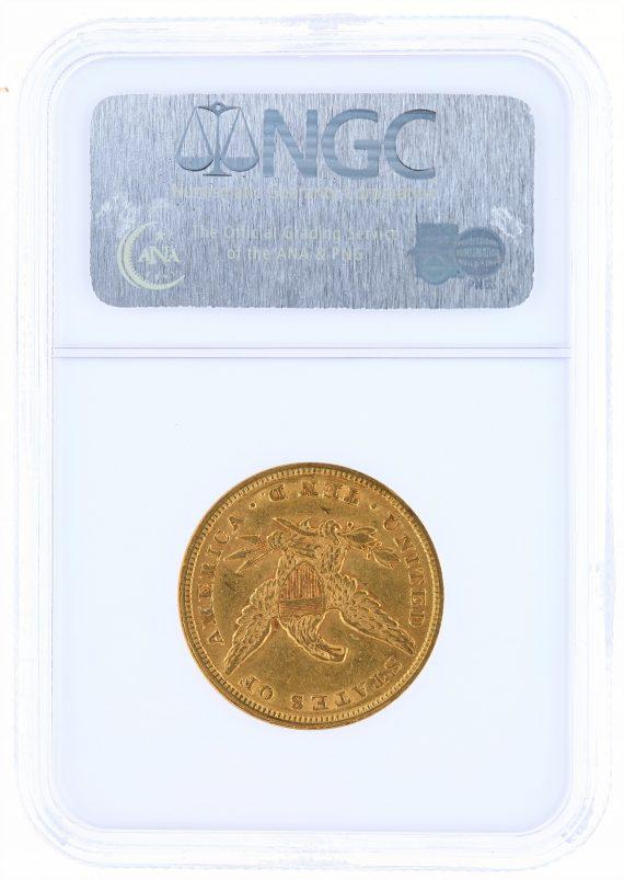 1853/'2' Gold Eagle NGC AU55 $10 Liberty Head rev