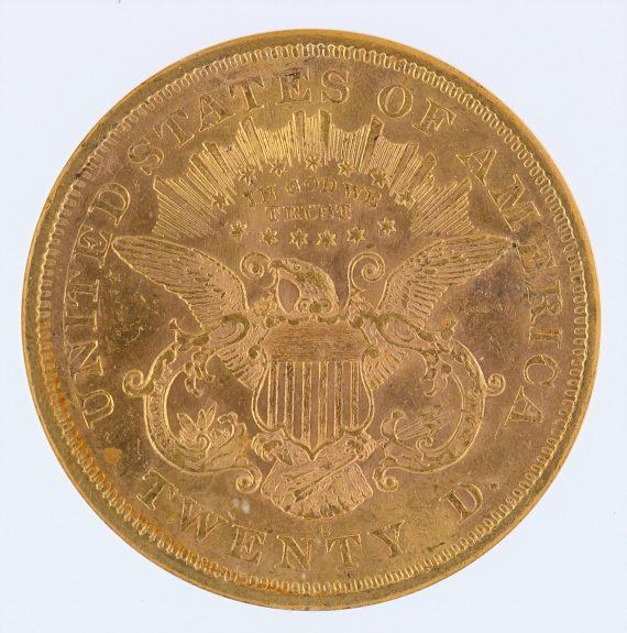 1876-S Liberty Head Double Eagle NGC AU58 $20 rev zm
