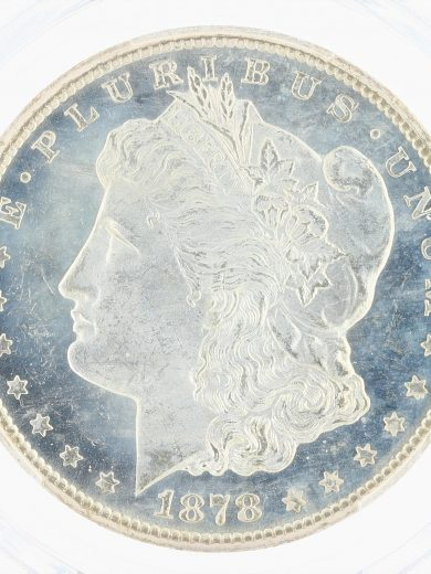 1878-CC PCGS MS64PL S$1 Morgan Dollar obv zm