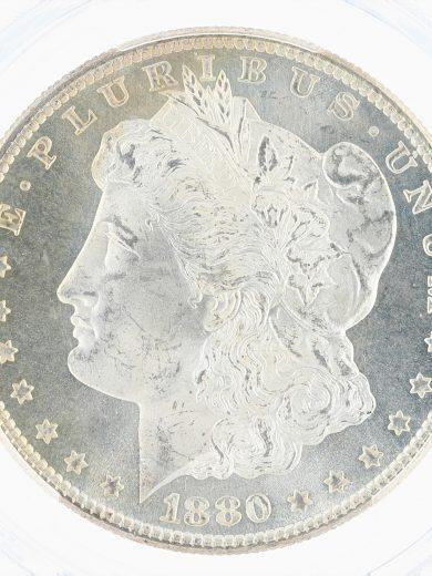 1880/9-S Morgan Dollar PCGS MS67 CAC S$1 obv zm