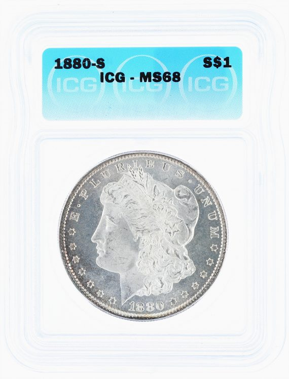 1880-S Morgan Dollar ICG MS68 S$1 obv