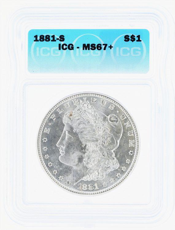 1881-S Morgan Dollar ICG MS67+ S$1 obv