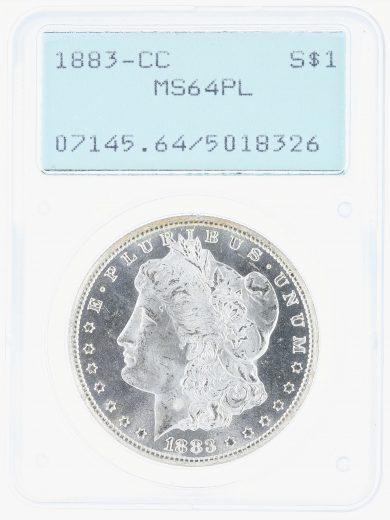 1883-CC Morgan Dollar PCGS MS64PL S$1 obv