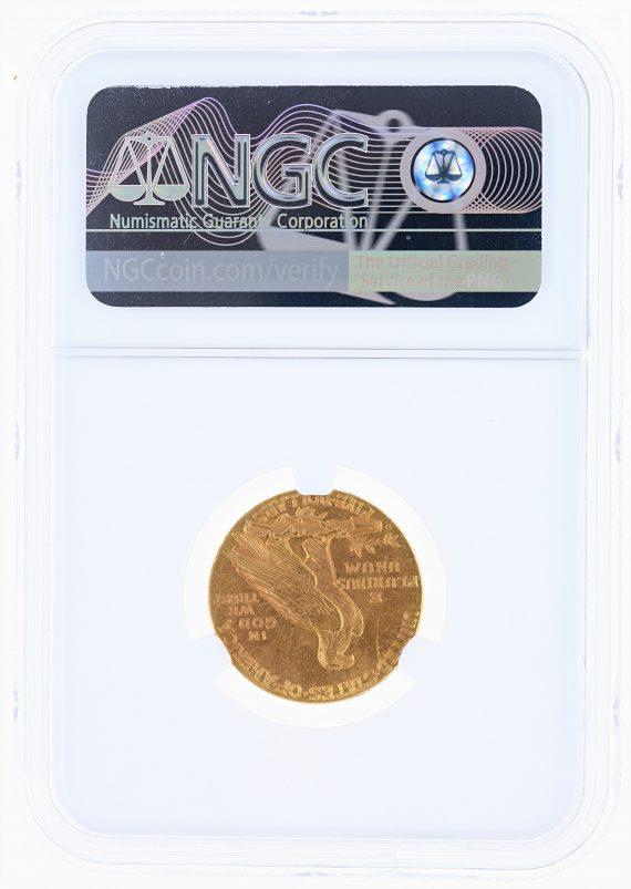1908-D Half Eagle NGC MS63 Indian Head $5 rev