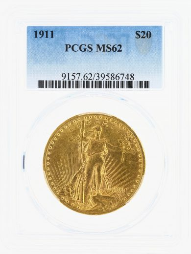 1911 Saint Gaudens PCGS MS62 $20 obv