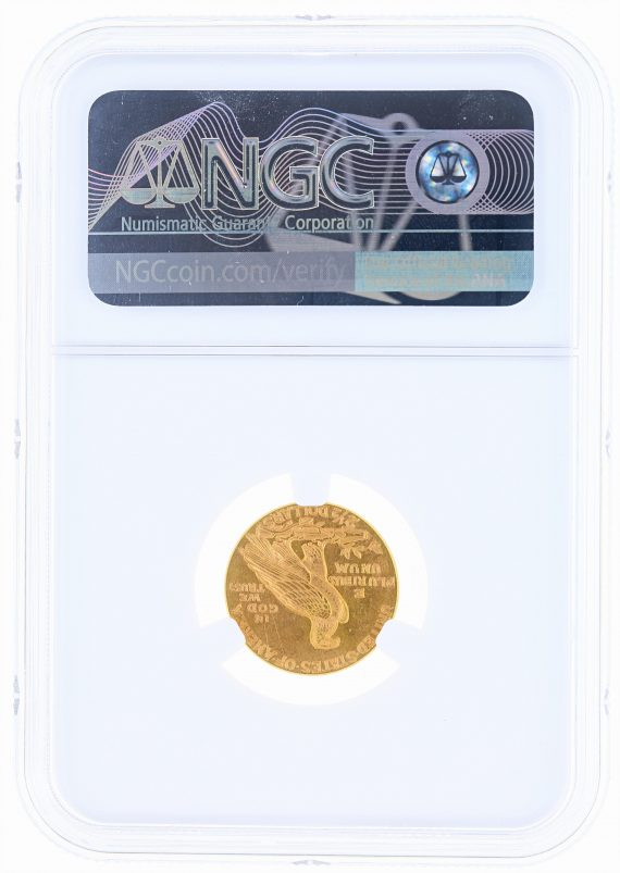1928 Quarter Eagle NGC MS63 Indian Head $2.50 rev