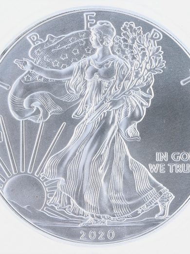 2020(P) Silver Eagle ICG MS69 S$1 Emergency Production obv zm