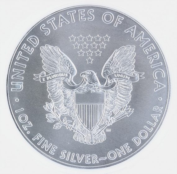 2020(P) Silver Eagle ICG MS69 S$1 Emergency Production rev zm