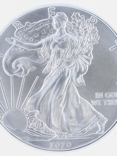 2020(P) Silver Eagle ICG MS70 S$1 Emergency Productionobv zm