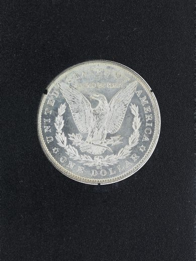 1885-CC Uncirculated Morgan Dollar in a Carson City Holder S$1 rev