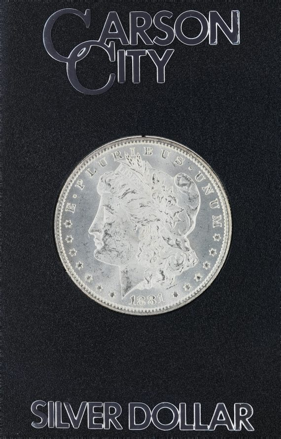 1881-CC Uncirculated Morgan Dollar Box and Certificate GSA S$1
