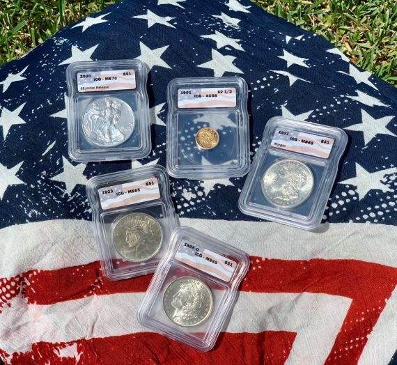 The All American Flag Pack Five Coin Set 1