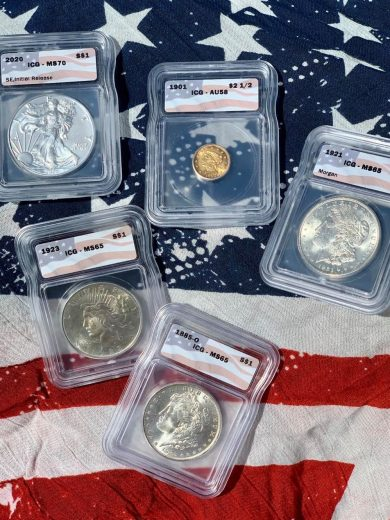 The All American Flag Pack Five Coin Set 2