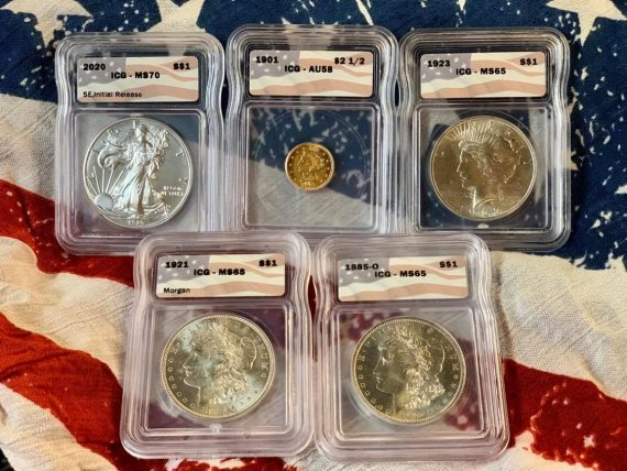 The All American Flag Pack Five Coin Set 3