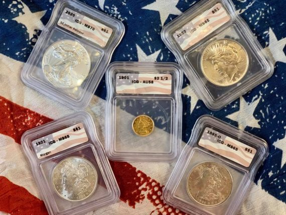 The All American Flag Pack Five Coin Set 4