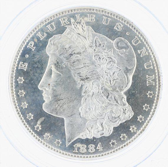 1884-CC Morgan Dollar PCGS MS65PL S$1 obv zm