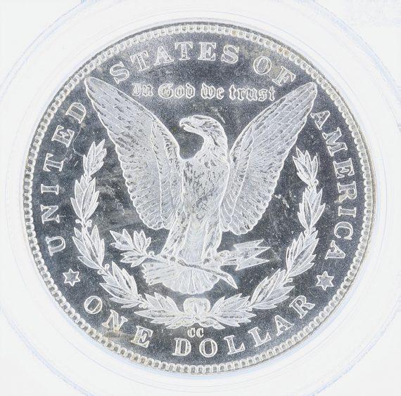 1884-CC Morgan Dollar PCGS MS65PL S$1 rev zm