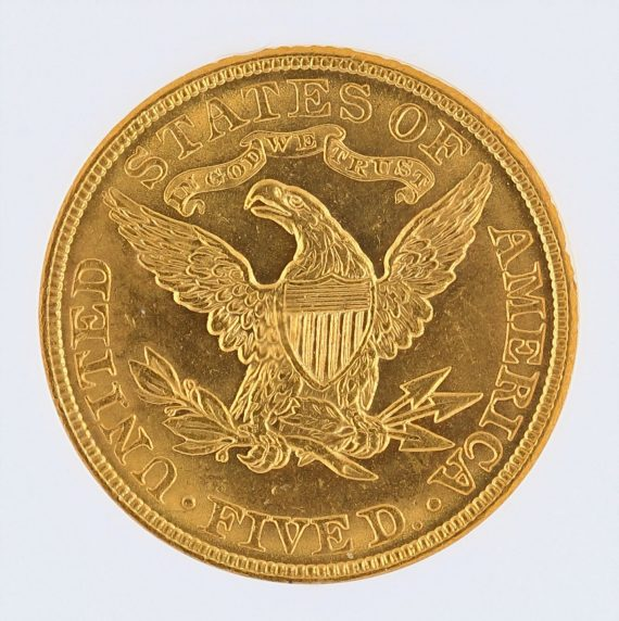 1906 Half Eagle NGC MS63 $5 rev zm