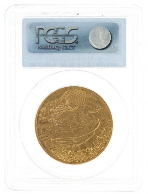 1909/8 Saint Gaudens PCGS AU58 $20 rev