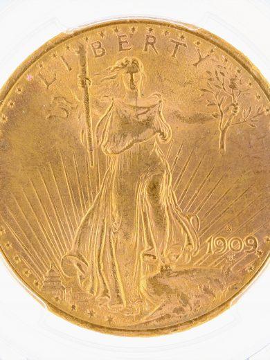 1909-S/S Saint Gaudens PCGS MS64 $20 obv zm