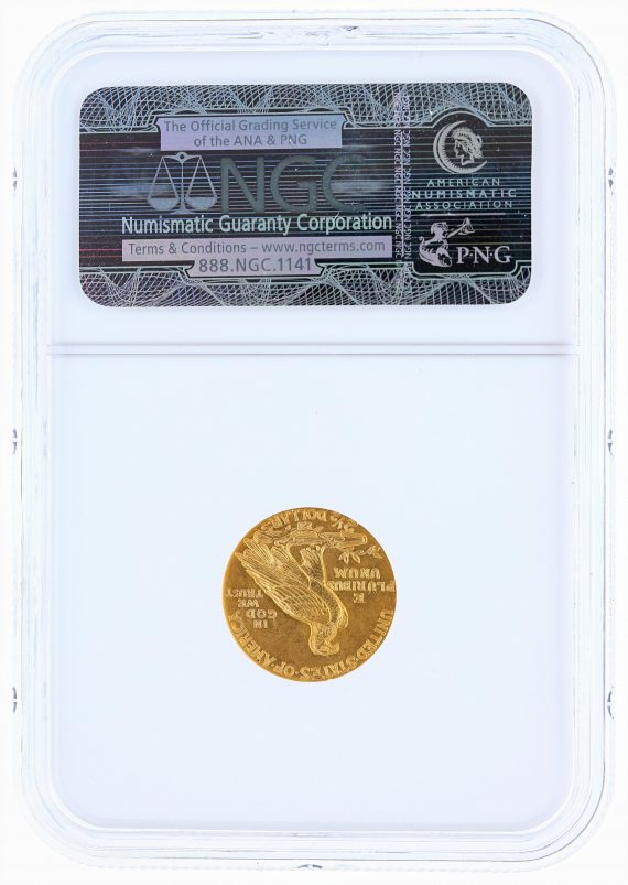 1929 Quarter Eagle NGC MS61 Indian Head $2.50 rev