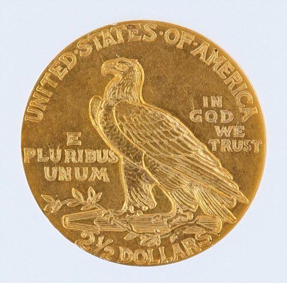 1929 Quarter Eagle NGC MS61 Indian Head $2.50 rev zm