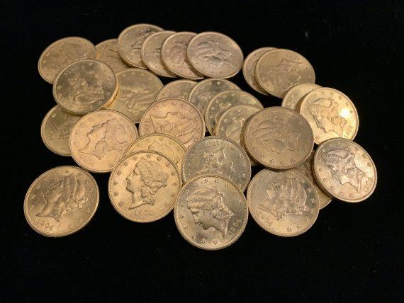 20 Liberty CU Raw Gold