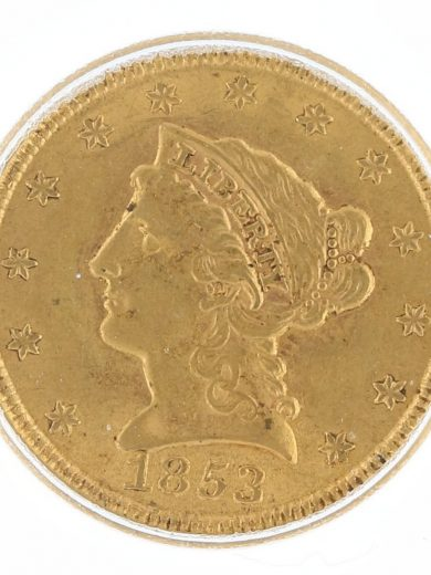 1853 Quarter Eagle ICG MS63 $2.50 Liberty Head obv zm