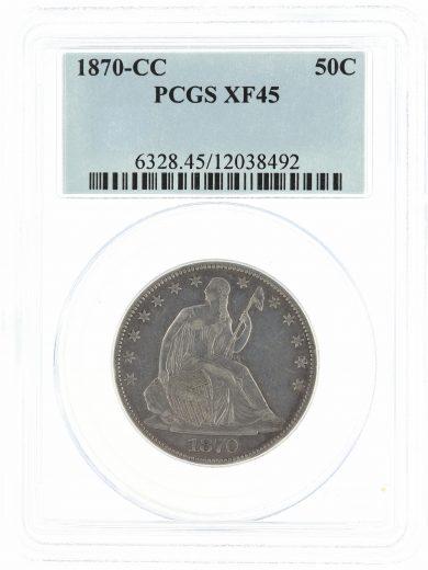 1870-CC PCGS XF45 50C
