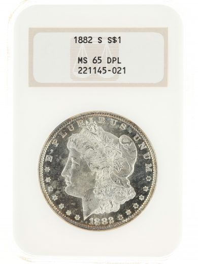 1882-S Morgan Dollar NGC MS65 DPL S$1 obv