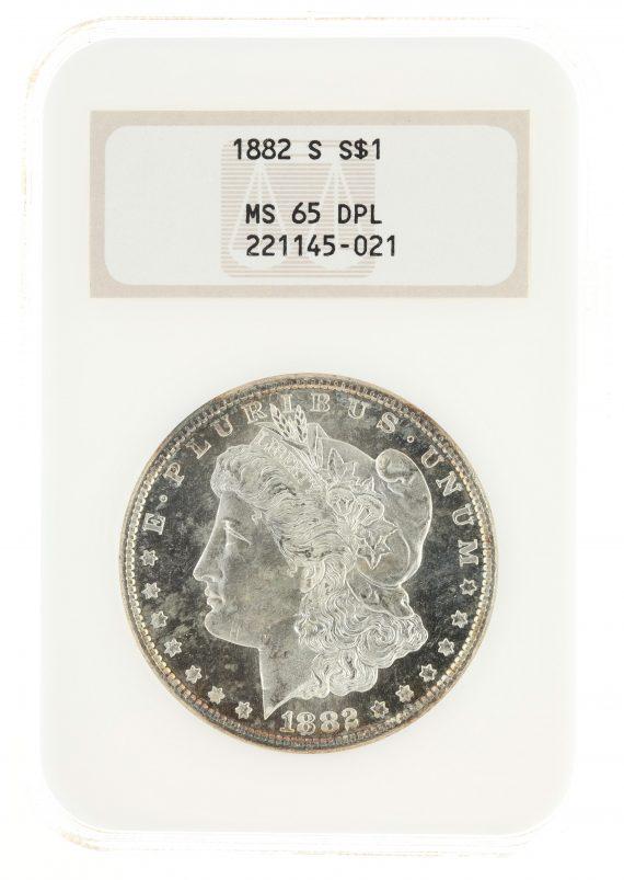 1882-S Morgan Dollar NGC MS65 DPL S$1 obv