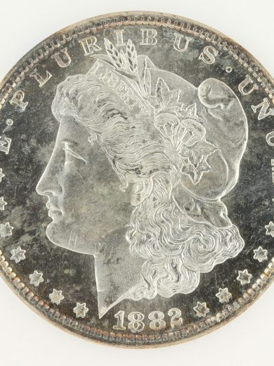 1882-S Morgan Dollar NGC MS65 DPL S$1 obv zm