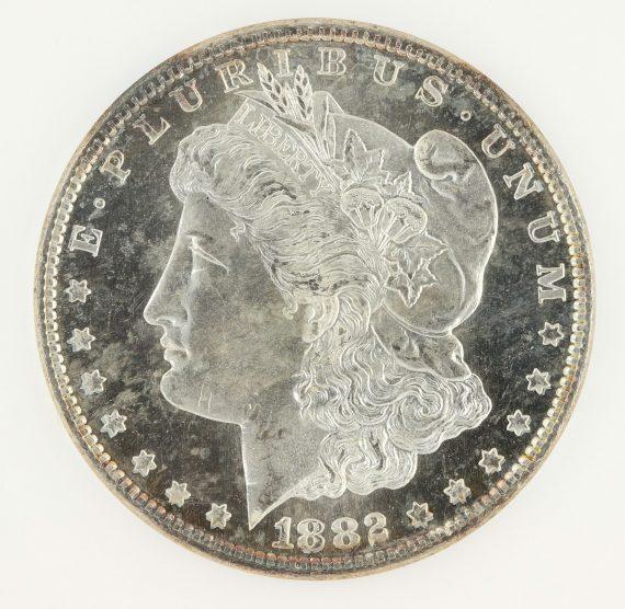 1882-S Morgan Dollar NGC MS65 DPL S$1 obv zm