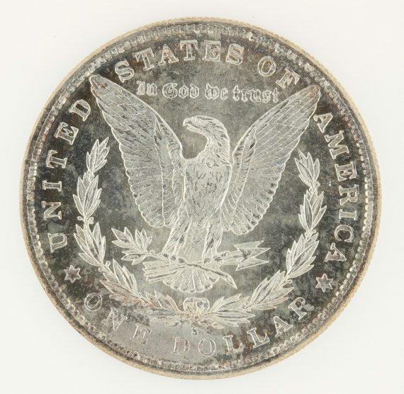 1882-S Morgan Dollar NGC MS65 DPL S$1 rev zm