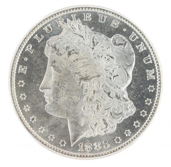1883-CC Morgan Dollar ICG MS63 PL GSA S$1 obv zm