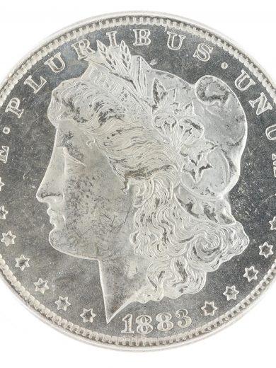 1883-CC Morgan Dollar ICG MS63 UDM GSA S$1 obv zm