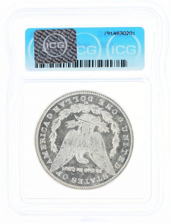 1883-CC Morgan Dollar ICG MS63 PL GSA S$1 rev