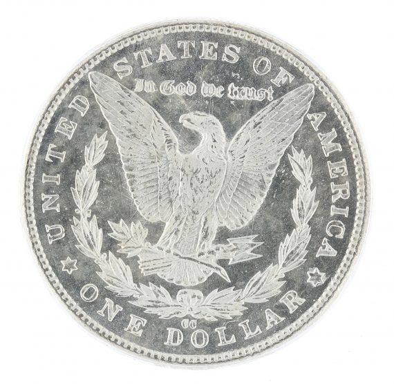1883-CC Morgan Dollar ICG MS63 PL GSA S$1 rev zm
