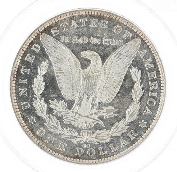 1891-CC PCGS MS63PL S$1 Morgan Dollar rev zm