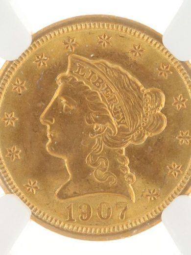 1907 Quarter Eagle NGC MS65 $2.50 obv zm