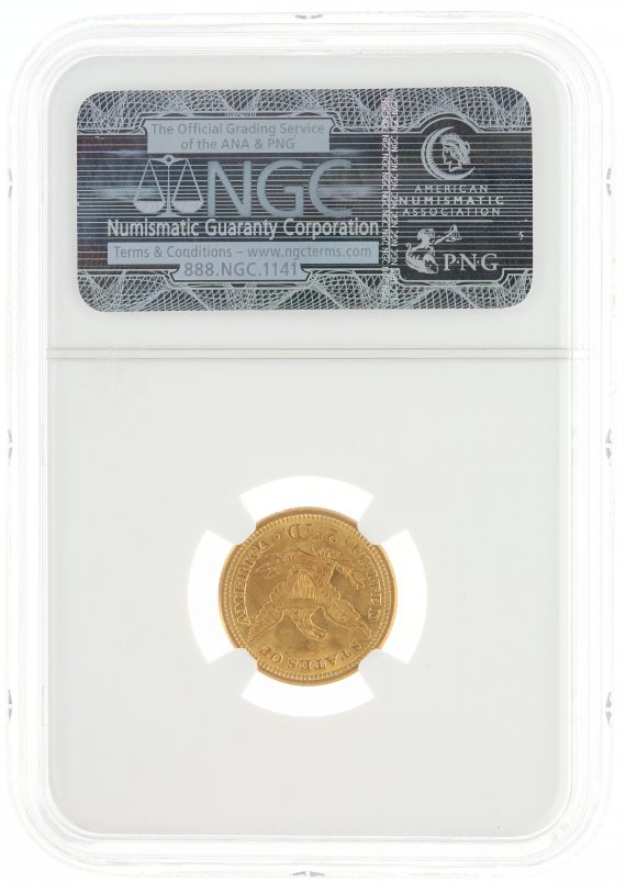 1907 Quarter Eagle NGC MS65 $2.50 rev