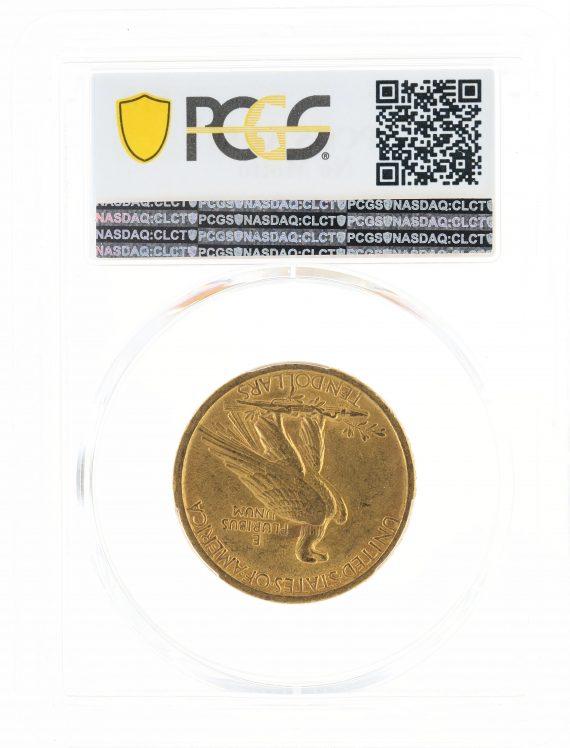 1907 No Motto Gold Eagle PCGS AU58 $10 Indian Head rev