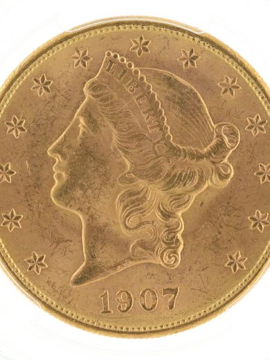 1907-S Double Eagle PCGS MS63 $20 Liberty Head obv zm