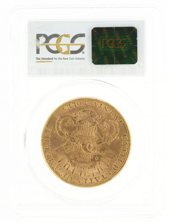 1907-S Double Eagle PCGS MS63 $20 Liberty Head rev