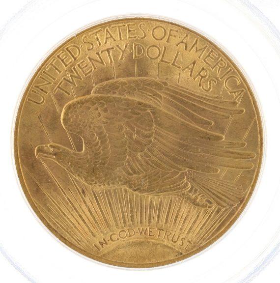 1913 Saint Gaudens PCGS MS63 $20 rev zm