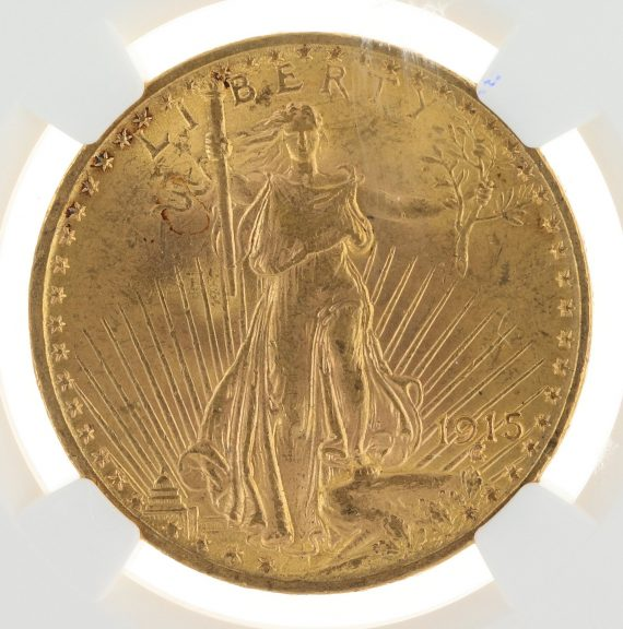 1915 Saint Gaudens NGC MS63 $20 obv zm