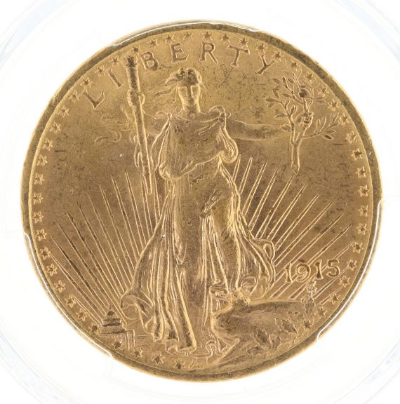 1915 Saint Gaudens PCGS MS63 $20 obv