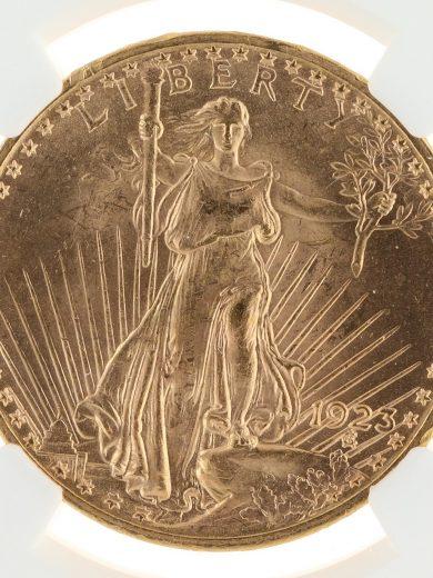 1923 Saint Gaudens NGC MS64 $20 obv zm